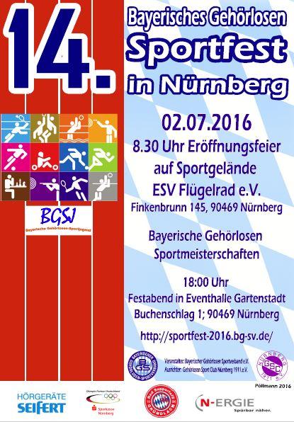 Sportfest-Plakat