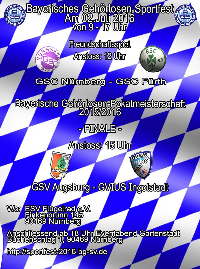 Plakat Sportfest-Freundschaftsspiel und Pokalmeisterschaft Finale1